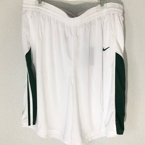 Nike Women's Basketball Shorts White and Green 3XL